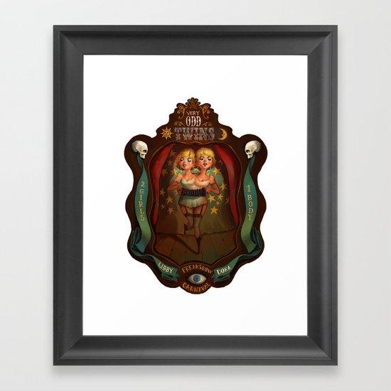 Very Odd Twins Framed Art Print