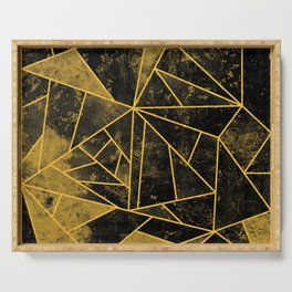 Yellow and Black Geometric House Colours Serving Tray
