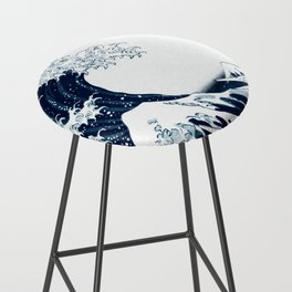 The Great Wave - Halftone Bar Stool
