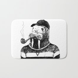 Walrus with a Pipe Bath Mat