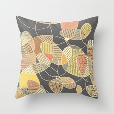 Tangled (grey version) Throw Pillow