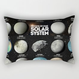 Moons Of Our Solar System Rectangular Pillow