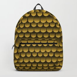 Armor Pattern Gold Backpack