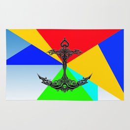 The Anchor Stripes Colorful Rug