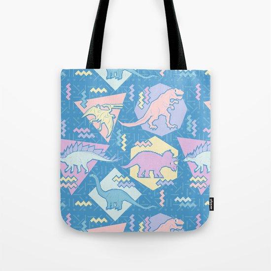 Nineties Dinosaurs Pattern  - Pastel version Tote Bag