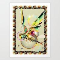 parrot Art Prints featuring PARROT by Mathis Rekowski