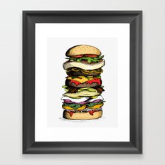 Now THIS is a burger. Framed Art Print