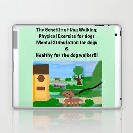 Dog Walking Shirt Series #1 Laptop & iPad Skin