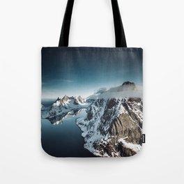 lofoten skyline Tote Bag