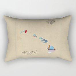 Hawaii state map  Rectangular Pillow