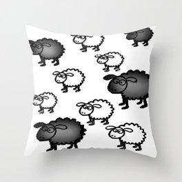 Black And White Sheep Throw Pillow