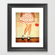 If you carry your childhood with you, you never become older. Framed Art Print