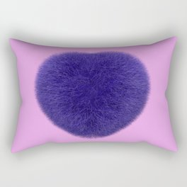 Furry Heart Rectangular Pillow