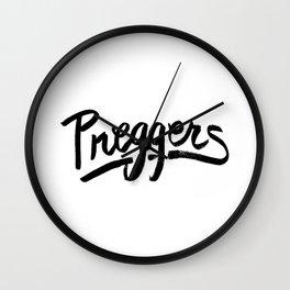Preggers Wall Clock