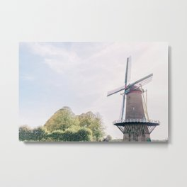 Mill in Hulst, Zeeland, The Netherlands Metal Print