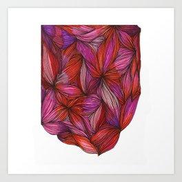 brightly blooming full Art Print