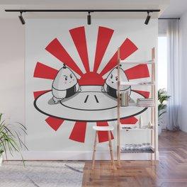 Rice Balls Sumo Onigiri Wall Mural