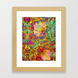 Deco Flower Framed Art Print