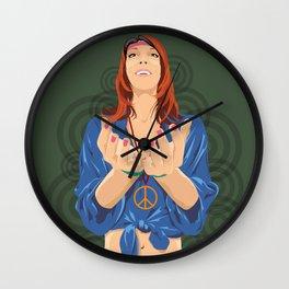 Hippy Girl  Wall Clock