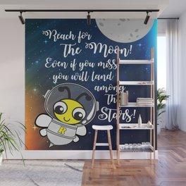Reach for the moon Wall Mural