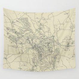 Vintage Map of Jerusalem Israel (1917) Wall Tapestry