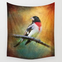 Rose-breasted Grosbeak ~ Ginkelmier Inspired Wall Tapestry