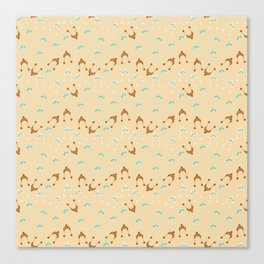 winter hats beige Canvas Print