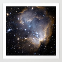 Star-forming region N90 Art Print