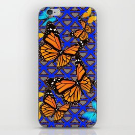 MODERN BUTTERFLY BLUE ABSTRACT WORLD iPhone Skin