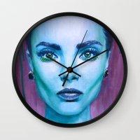 cara Wall Clocks featuring Cara by Stella Joy
