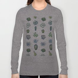One Dozen Succulents Long Sleeve T-shirt