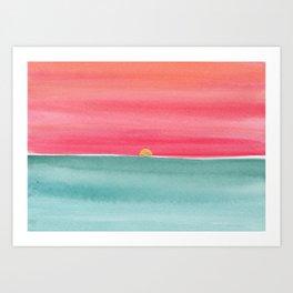 #83. ANNE MARIE - Sunset Art Print