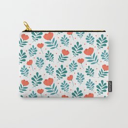 Floral Leaf Pattern Carry-All Pouch