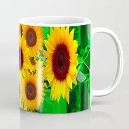 SPRING GREEN EMERALDS & YELLOW FLOWERS  ART Coffee Mug