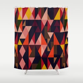 Vintage vibes_in warm hues Shower Curtain