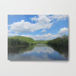 New Jersey Meets Pennsylvania Metal Print
