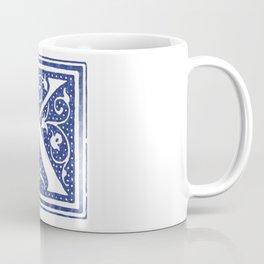 Floral Letter Type - Letter K Coffee Mug