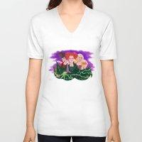 hocus pocus V-neck T-shirts featuring Sanderson Sistaahs! - Hocus Pocus by Dylan Bonner