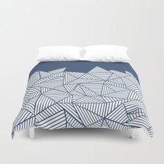 Abstract Mountain Navy Duvet Cover