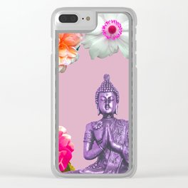 Lavender Buddha Clear iPhone Case