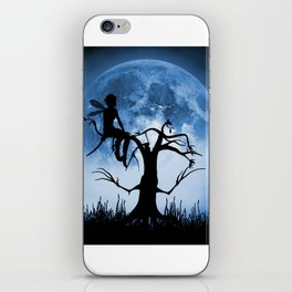 Moonlight Wondering Fairy - Blue iPhone Skin