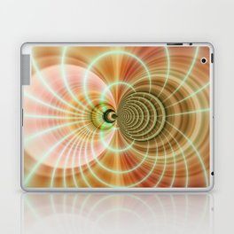Fractal orange Laptop & iPad Skin