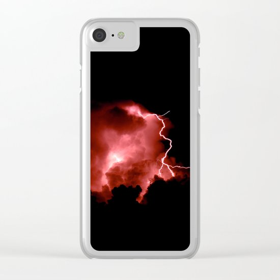 Lightning Strikes Clear iPhone Case