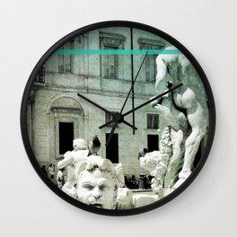 Neptune Fountain Rome Italy Wall Clock
