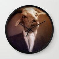 satan Wall Clocks featuring Satan by Zombietron