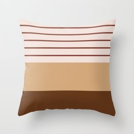 Geometric Lines in Terracotta Shades Throw Pillow