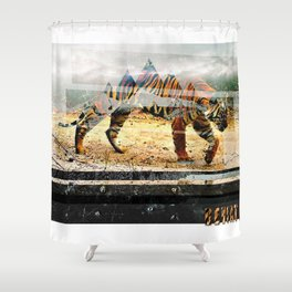Letters From the Sky Shower Curtain
