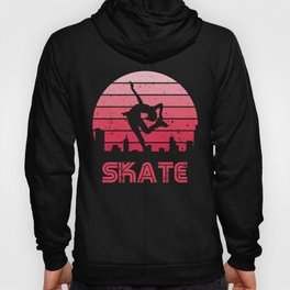 Retro Sunset Figure Skating Girl Hoody