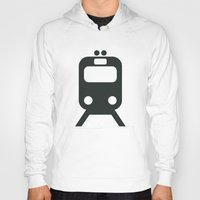 train Hoodies featuring Train by Alejandro Díaz