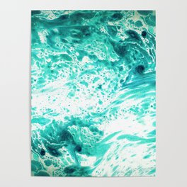 Teal Marble Poster